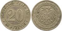 20 Pfennig 1892  G Kleinmünzen  Fast sehr schön  45,00 EUR  zzgl. 4,00 EUR Versand