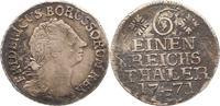 1/6 Taler 1771  E Brandenburg-Preußen Friedrich II. 1740-1786. Schön  22,00 EUR  zzgl. 4,00 EUR Versand