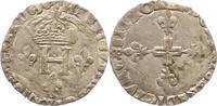 1/4 Ecu 1588 Frankreich Heinrich III. 1574-1589. Sehr schön  55,00 EUR  zzgl. 4,00 EUR Versand