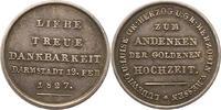 Silbermedaille 1827 Hessen-Darmstadt Ludwig I. 1806-1830. Schöne Patina... 55,00 EUR  zzgl. 4,00 EUR Versand