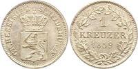 Kreuzer 1859 Hessen-Darmstadt Ludwig III. 1848-1877. Stempelglanz  22,00 EUR  zzgl. 4,00 EUR Versand