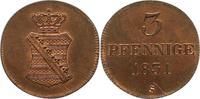 3 Pfennig 1831  S Sachsen-Albertinische Linie Anton 1827-1836. Prachtex... 145,00 EUR  zzgl. 4,00 EUR Versand