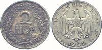 2 Mark 1931  D Weimarer Republik  vorzüglich  50,00 EUR  zzgl. 4,00 EUR Versand