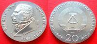 20 Mark 1967 DDR Humboldt, Falsche Randinschrift, selten Stempelglanz  130,00 EUR  zzgl. 5,00 EUR Versand