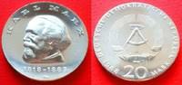 20 Mark 1968 DDR Karl Marx Stempelglanz  44,00 EUR  zzgl. 5,00 EUR Versand