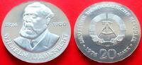 20 Mark 1976 DDR Wilhelm Liebknecht Stempelglanz  41,00 EUR  zzgl. 5,00 EUR Versand
