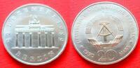 20 Mark 1990 DDR Brandenburger Tor 1990 Cu/Ni Stempelglanz  5,00 EUR  zzgl. 5,00 EUR Versand
