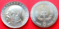 5 Mark 1968 DDR Robert Koch Stempelglanz  11,00 EUR  zzgl. 5,00 EUR Versand