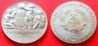 5 Mark 1982 DDR Friedrich Fröbel Stempelglanz  27,00 EUR  zzgl. 5,00 EUR Versand