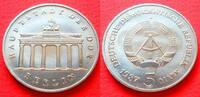 5 Mark 1987 DDR Brandenburger Tor 1987 Stempelglanz  4,00 EUR  zzgl. 5,00 EUR Versand