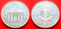 20 Mark 1990 DDR Brandenburger Tor 1990 Silber Stempelglanz  19,00 EUR  zzgl. 5,00 EUR Versand