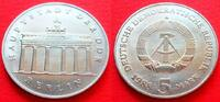 5 Mark 1988 DDR Brandenburger Tor 1988 Stempelglanz  20,00 EUR  zzgl. 5,00 EUR Versand