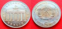 5 Mark 1989 DDR Brandenburger Tor 1989 Stempelglanz  25,00 EUR  zzgl. 5,00 EUR Versand