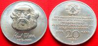 20 Mark 1983 DDR Karl Marx Cu/Ni Stempelglanz  5,00 EUR  zzgl. 5,00 EUR Versand