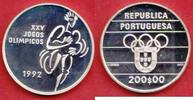 200 Escudos 1992 Portugal Sprinter - Olympiade 1992 Barcelona Polierte ... 16,20 EUR  zzgl. 5,00 EUR Versand