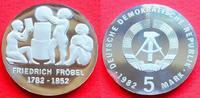 5 Mark 1982 DDR Friedrich Fröbel Polierte Platte, Proof PP  30,00 EUR  zzgl. 5,00 EUR Versand