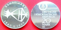 20 Mark 1980 DDR Ernst Abbe Silber in Kapsel Polierte Platte offen, Pro... 50,00 EUR  zzgl. 5,00 EUR Versand