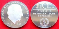 10 Mark 1981 DDR Georg Hegel Silber Polierte Platte offen, Proof PP  37,00 EUR  zzgl. 5,00 EUR Versand