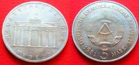 5 Mark 1981 DDR Brandenburger Tor 1981 Stempelglanz  20,00 EUR  zzgl. 5,00 EUR Versand