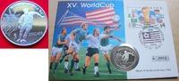 5 Dollar 1991 Niue Fußball WM USA 1994, Spieler und Liberty, Numisbrief... 7,00 EUR  +  5,00 EUR shipping