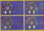 BRD 42,72 DM 4 Kursmünzensätze 1988 (kompl.) D,F,G,J  PP
