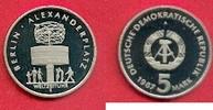 5 Mark 1987 DDR Weltzeituhr am Alexanderplatz Polierte Platte offen, Pr... 27,00 EUR  zzgl. 5,00 EUR Versand