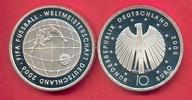 10 Euro 2005 BRD Fussball-WM Tornetz PP Silber Polierte Platte, Proof PP  14,99 EUR  zzgl. 5,00 EUR Versand