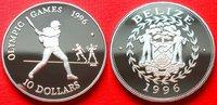10 Dollars 1996 Belize Baseball, Olympiade 1996 Atlanta Polierte Platte... 28,00 EUR  zzgl. 5,00 EUR Versand