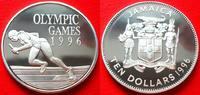 10 Dollars 1996 Jamaika Sprinter, Olympiade 1996 Atlanta Polierte Platt... 19,00 EUR  zzgl. 5,00 EUR Versand