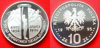 10 Zloty 1995 Polen Antike Sportler, Olympiade 1996 Atlanta Polierte Pl... 45,00 EUR  zzgl. 5,00 EUR Versand