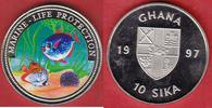 10 Sika 1997 Ghana Meeresmotiv, Meeresfauna, Marine - Life Protection, ... 10,00 EUR  zzgl. 5,00 EUR Versand