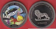 5 Francs 2000 Kongo Leoparden - Drückerfisch, Meeresfauna, Marine - Lif... 8,00 EUR  zzgl. 5,00 EUR Versand