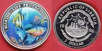 1 Dollar 1996 Liberia Gelb und Orangener Fisch, Meeresfauna, Marine - L... 8,00 EUR  zzgl. 5,00 EUR Versand
