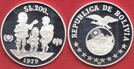 200 Pesos 1979 Bolovien UNICEF International Year of the Child - Jahr d... 19,00 EUR  zzgl. 5,00 EUR Versand