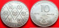 10 Mark 1975 DDR Warschauer Vertrag bankfrisch  4,00 EUR  zzgl. 5,00 EUR Versand