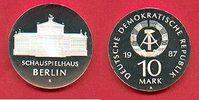 10 Mark 1987 DDR Schauspielhaus Berlin Silber Polierte Platte offen, Pr... 54,00 EUR  zzgl. 5,00 EUR Versand