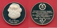 20 Mark 1983 DDR Karl Marx in Kapsel Polierte Platte offen, Proof PP  30,00 EUR  zzgl. 5,00 EUR Versand