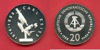 20 Mark 1988 DDR Carl Zeiss Silber in Kapsel Polierte Platte offen, Pro... 230,00 EUR  zzgl. 5,00 EUR Versand
