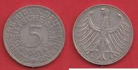 5 DM 1961 D BRD (20/76MÜLL) J. 387 Adler  sehr schön  8,00 EUR