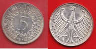 5 DM 1964 F BRD (22/76MÜLL) J. 387 Adler  vorzüglich+  /  stempelglanz  25,00 EUR