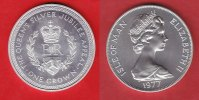 Isle of Man  1 Crown 1977 Stempelglanz Brilliant uncirculated BU, Krönun... 3,00 EUR
