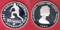 Turks and Caicos 10 Crown 1982 Polierte Platte Proof PP Fussball WM 1982... 16,00 EUR