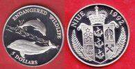 5 Dollar 1992 Niue Delphine, Tierwelt, WWF, Endangered Wildlife Poliert... 12,00 EUR  zzgl. 5,00 EUR Versand