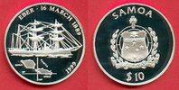 10 Dollar 1999 Westsamoa Segelschiff Eber, Seefahrt Polierte Platte Pro... 26,00 EUR