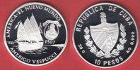 10 Pesos 1996 Kuba Karacke Dauphine, Amerigo Vespucci, Seefahrt Poliert... 21,00 EUR