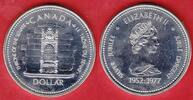 1 Dollar 1977 Kanada Thron Stempelglanz fein, Prooflike  8,00 EUR  zzgl. 5,00 EUR Versand