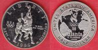 1/2 Dollar 1995 USA Olympic Games 1996 Atlanta, Basketball Polierte Pla... 12,00 EUR