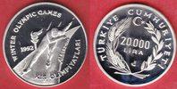 20000 Lira 1990 Türkei Olympiade 1992 Albertville, Eisschnellauf, selte... 25,00 EUR