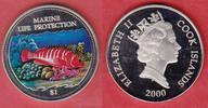 1 Dollar 2000 Cook Islands Sägebarsch, Meeresfauna, Marine - Life Prote... 10,00 EUR  zzgl. 5,00 EUR Versand