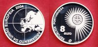 8 Euro 2004 Portugal Eurostar - Europa Stern, EU-Erweiterung Polierte P... 17,00 EUR  zzgl. 5,00 EUR Versand